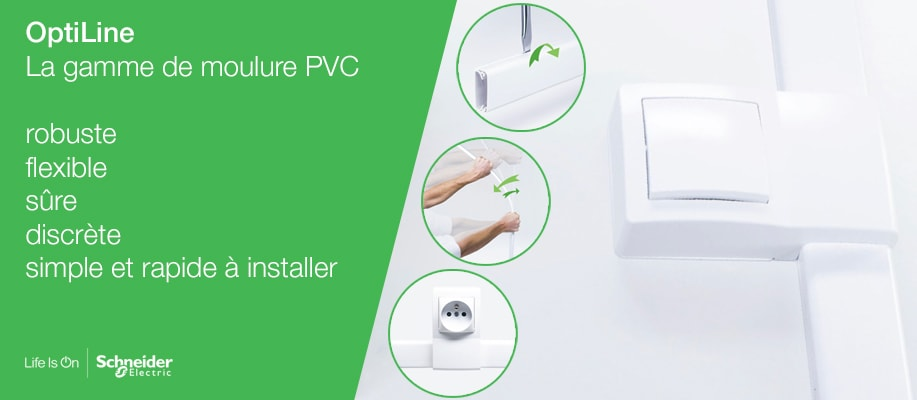 Moulure PVC OptiLine de Schneider Electric