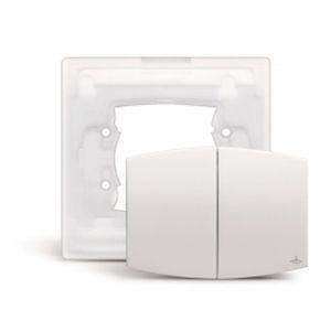 arnould 68905 manette pour commande double blanche avec. Black Bedroom Furniture Sets. Home Design Ideas