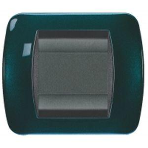 plaques bticino living m tal peinture m talis e bleu p trole sur. Black Bedroom Furniture Sets. Home Design Ideas