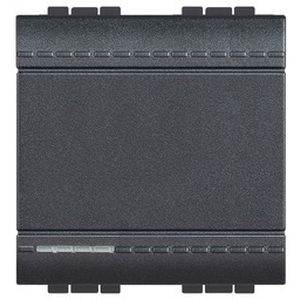 Va-et-vient Living Light Bticino Anthracite - 1 P 16 AX 250 Vca - 2 modules