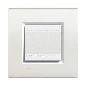 Plaque Living Light Bticino Blanc - 2 modules