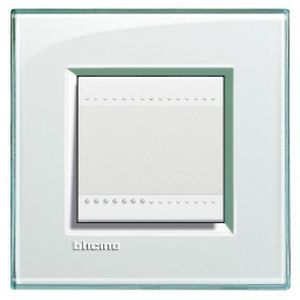 Plaque Living Light Bticino Aigue-marine - 2 modules