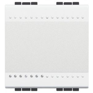 Va-et-vient Living Light Bticino blanc 1 P 16 AX 250 Vca - 2 modules