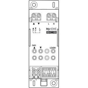 Actionneur DIN 2 relais pour moteur Bticino Cofrel F401