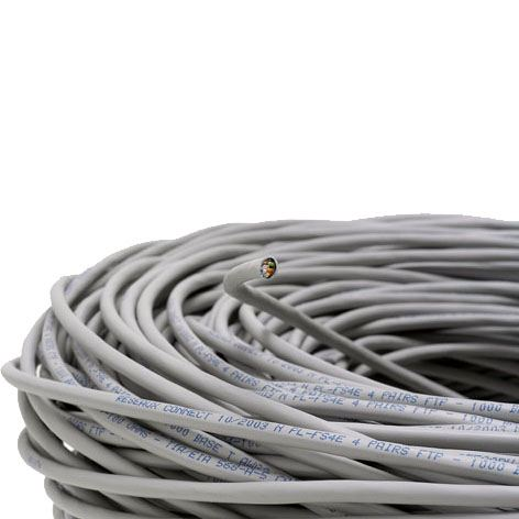 Cable F-UTP (FTP blindé) 2x4P cat 6 LSZH (prix au m)