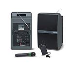 Système de diffusion sonore amplifié avec lecteur K7 et micro sans fil