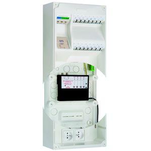 michaud q268 coffret de communication multibox gr3 8rj45 tv sat. Black Bedroom Furniture Sets. Home Design Ideas