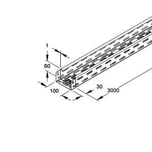 chemin de c bles h60x100 2xflm6x12 prix au m tre. Black Bedroom Furniture Sets. Home Design Ideas
