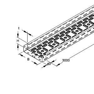 chemin de c ble h60x200 2xflm6x12 prix au m tre niedax 257409. Black Bedroom Furniture Sets. Home Design Ideas