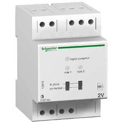 D lesteur 2 voies schneider pour compteur lectronique edf monophas dse2 modulaire - Compteur edf electronique ...