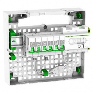 Schneider lexcom home resi9 coffret de communication grade 2 6 rj45 1 rang e schneider - Coffret de communication grade 3 ...
