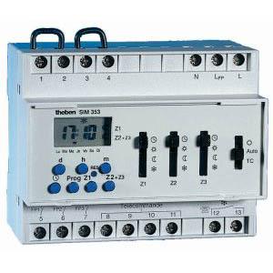 theben 3530801 sim 353 programmateur pour chauffage lectrique fil pilote 3 zones. Black Bedroom Furniture Sets. Home Design Ideas