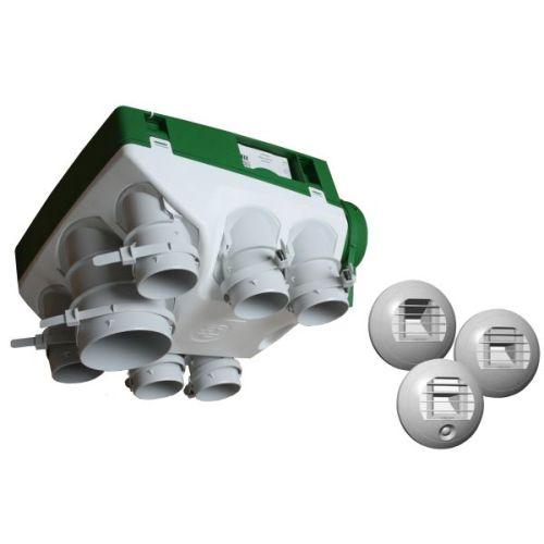 Unelvent 600611 kit vmc hygror glable ozeo cc khb pour for Installation vmc salle de bain