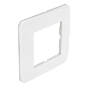 Plaque Casual Debflex simple blanc brillant