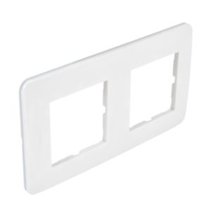 Plaque Casual Debflex double blanc brillant