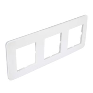 Plaque Casual Debflex triple blanc brillant
