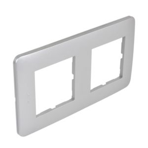 Plaque Casual Debflex double silver