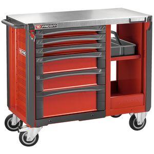 facjet t6xl etabli mobile 6 tiroirs rouge. Black Bedroom Furniture Sets. Home Design Ideas