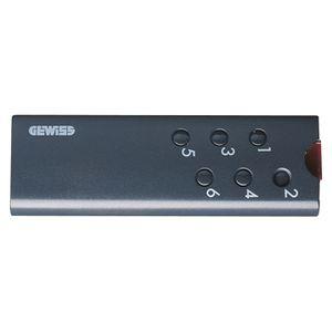 gewiss gw12596 telecommande a infrarouges portable 6 c. Black Bedroom Furniture Sets. Home Design Ideas