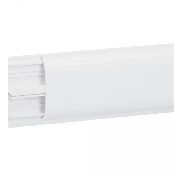 Plinthe DLPlus 80x20 - 2 compartiments - 1 couvercle - L. 2 m - blanc (Prix au mètre)