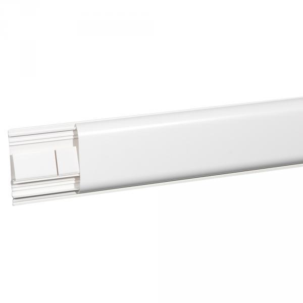 Plinthe DLPlus 120x20 - 2 compartiments - 1 couvercle - L. 2 m - blanc (Prix au mètre)