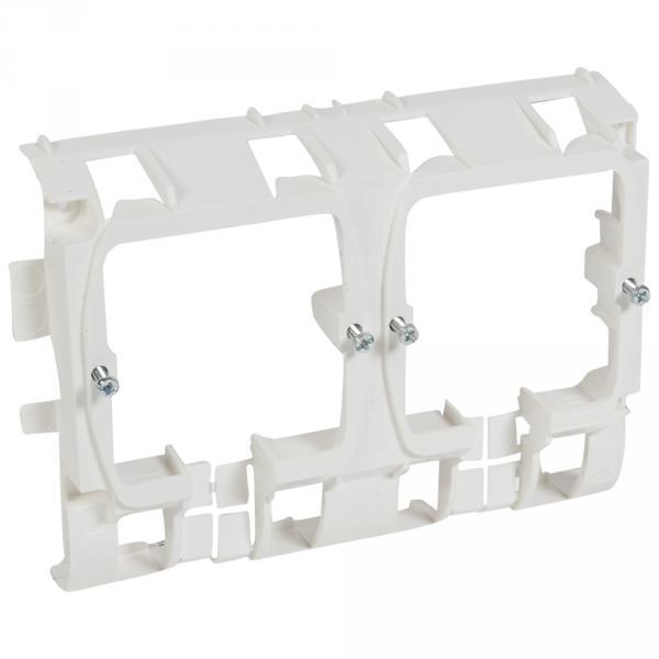 Support Mosaic 4 mod - pour pose sur plinthe DLP 80/120x20 - blanc