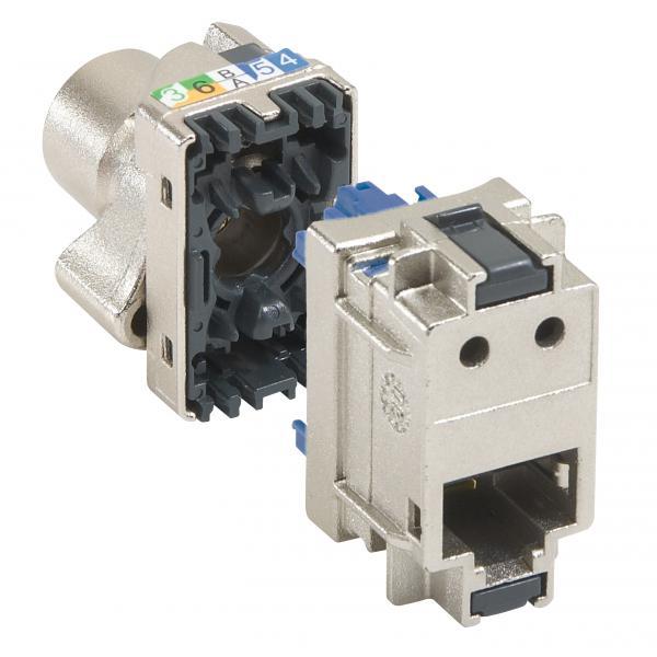 Bloc 6 connecteurs RJ45 - Cat.6 - STP - Blindage métal - LCS²