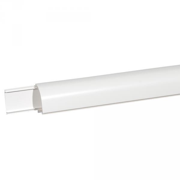 Plinthe DLP 140x35 - 2 compartiments - 2 couvercles - blanc (Prix au mètre)