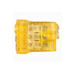 Borne connexion sans vis Nylbloc auto pour 3 fils - 24A - 450 V~ - orange