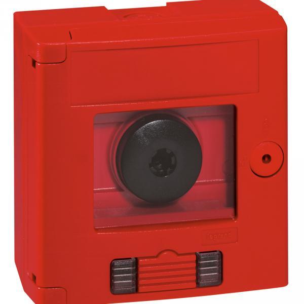 legrand 038024 coffret de s curit 39 39 bris de glace 39 39 double position rouge voyant saillie. Black Bedroom Furniture Sets. Home Design Ideas