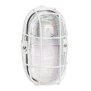 Hublot étanche - IP55/IK04 - ovale - 75 W incandescent - E27 - diff incolore