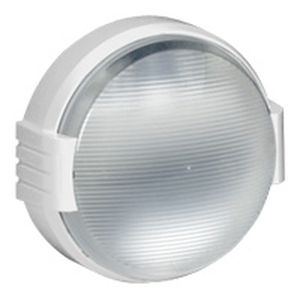 Hublot Koro étanche complet -IP55/IK08- rond avec couronne - lampe 100W - blanc