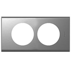 plaque inox bross legrand c liane 2 postes pour r novation legrand 069108. Black Bedroom Furniture Sets. Home Design Ideas