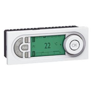 Thermostat d'ambiance électronique programmable Prog Mosaic - 5 mod hor - blanc