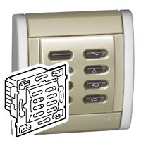 centrale d 39 alarme 1 zone sagane pour alarme intrusion legrand 084420. Black Bedroom Furniture Sets. Home Design Ideas