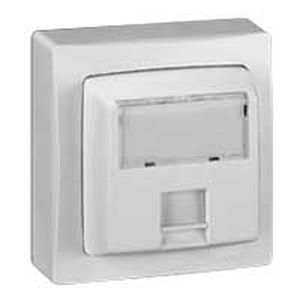 Prise RJ45 Cat.6 FTP 9 contacts appareillage saillie complet - blanc