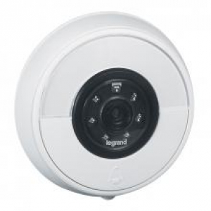 Sonnette connectée IP44 IK06 connexion directe à la box Wi-Fi - blanc