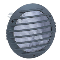 Hublot Koro antivandale encast -IP55/IK10- rond - couronne grille - anthracite