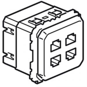 Prise quadruple RJ45 STP Multimedia Legrand Céliane