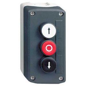 schneider electric xald324e harmony boite 3 boutons poussoirs 22 blanc rouge noir. Black Bedroom Furniture Sets. Home Design Ideas