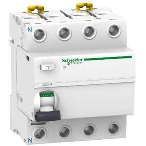 schneider acti9 iid interrupteur diffrentiel 4p 63a 30ma type ac zoom - Disjoncteur Differentiel Pour Salle De Bain
