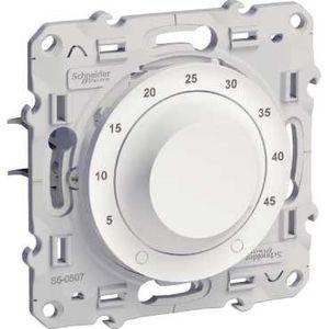 Schneider electric s520507 odace thermostat blanc 10 a pour plancher chauffant livr avec sonde - Materiel electrique schneider ...