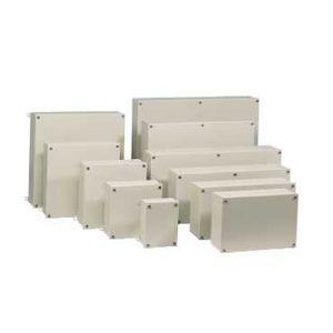 boite industrielle en acier crous 250x250x100 schneider electric nsysbs252510s. Black Bedroom Furniture Sets. Home Design Ideas