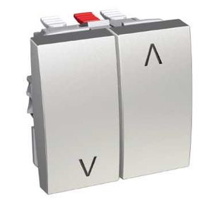 schneider electric alb46087 altira interrupteur volets roulants aluminium. Black Bedroom Furniture Sets. Home Design Ideas