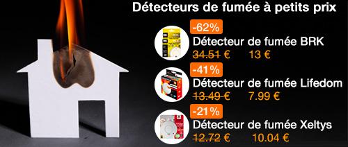 Promo détecteurs de fumée