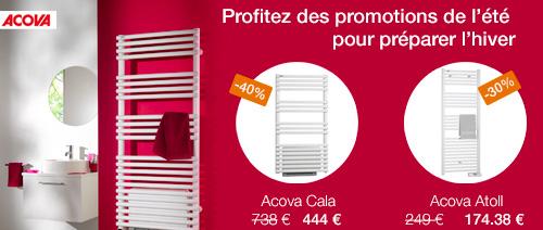 Promo sèche-serviettes Acova