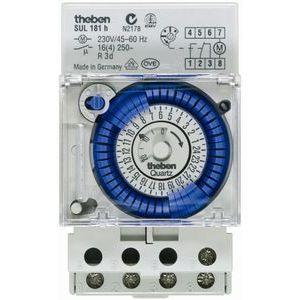 interrupteur horaire mecanique avec reserve de marche 1 no 1nf sul 181 h theben 1810008. Black Bedroom Furniture Sets. Home Design Ideas