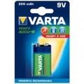 Piles rechargeables NimH 9V  - 6F22 - Varta