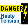 "Plaque aluminium ""HAUTE TENSION"" - Catu"