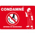 "Plaque PVC ""CONDAMNE"" - Catu"